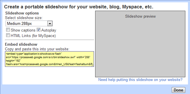 how to add slideshow in blogger or wordpress website