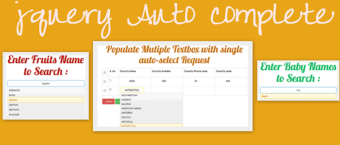 jquery autocomplete search using php mysql and ajax