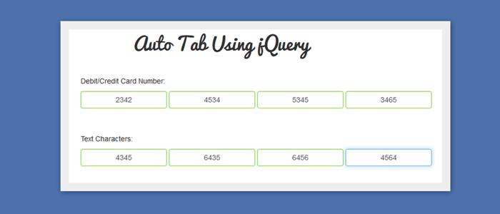 Auto Tab Using jQuery