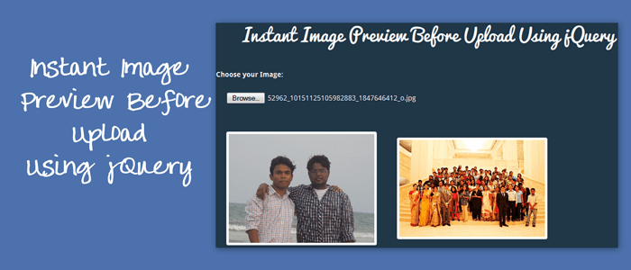 Image Preview Before Upload Using jQuery