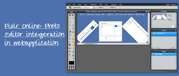 Integrate Pixlr Online Photo Editor in Website