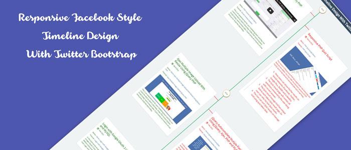 Responsive Facebook Style Timeline Design Demo