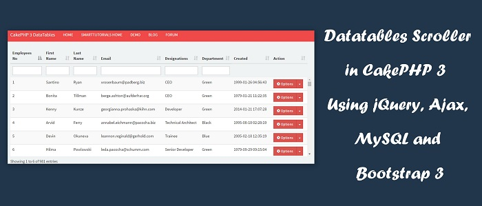 Datatables Scroller in CakePHP 3 Using jQuery, Ajax, MySQL and Bootstrap 3