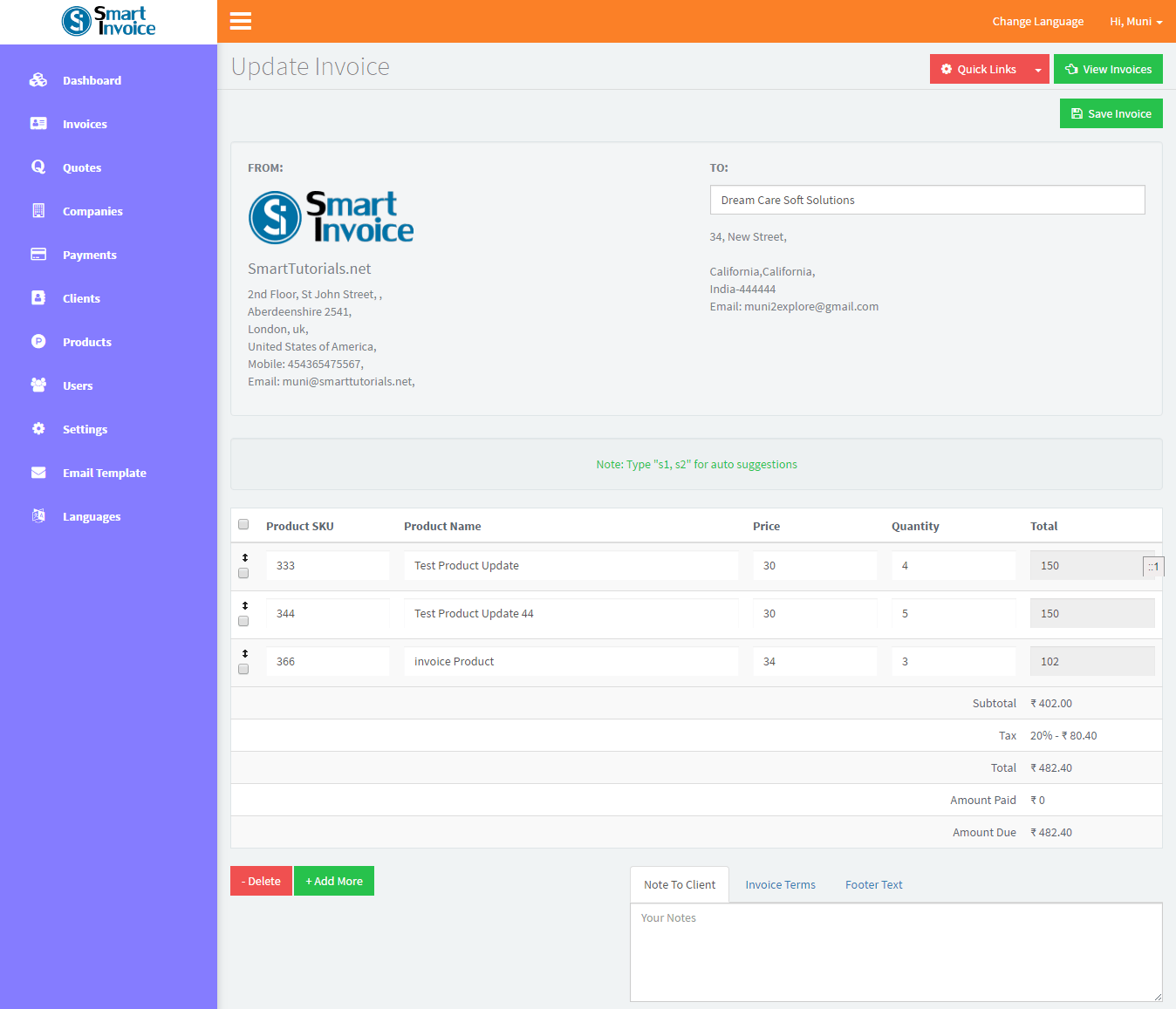 Smart Invoice System Version Using Bootstrap JQuery PHP MySQL - Php invoice system