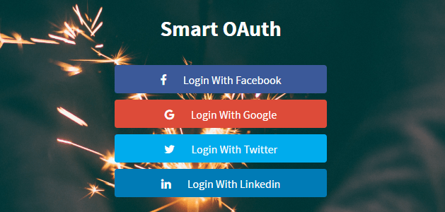 Facebook, Google, Twitter Linkedin OAuth 2 login PHP Script
