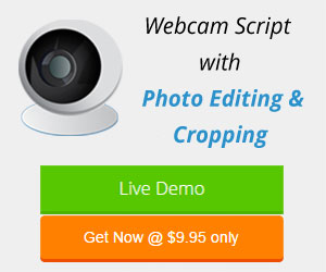 Webcam Script with photo editing and cropping