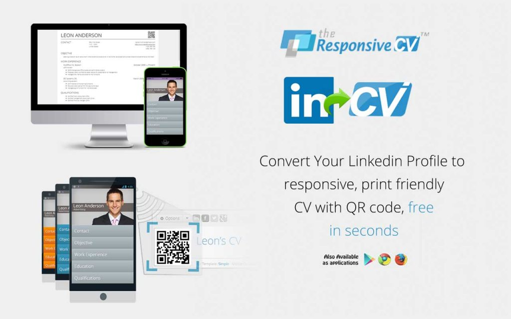 make a resume from linkedin through responsive cv