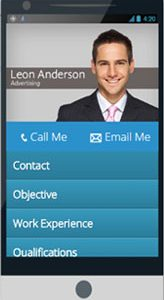 Mobile resume responsive cv
