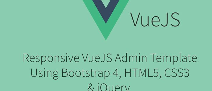 Free VueJS Responsive Admin Template Using Bootstrap 4, HMTL5, CSS3
