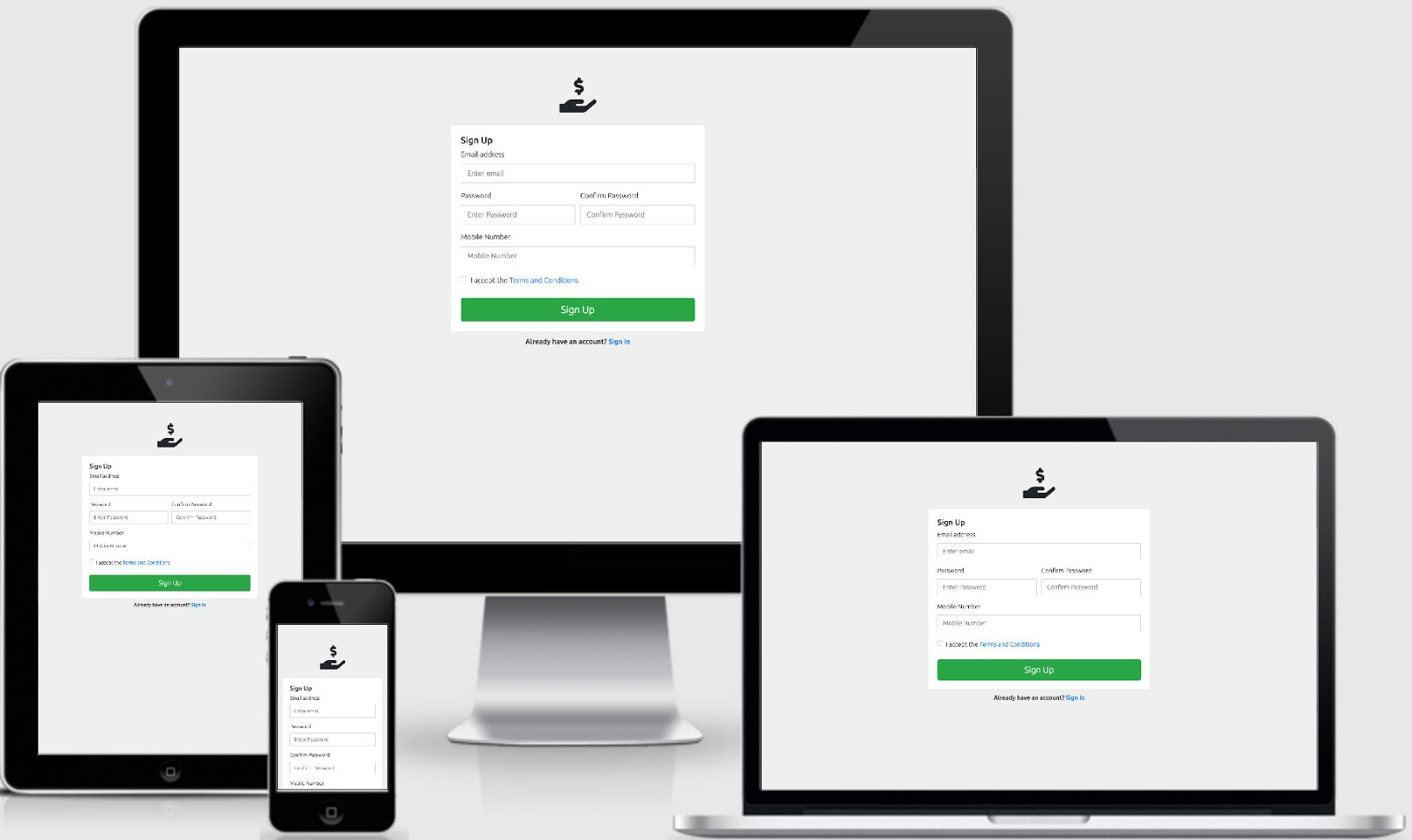 Free ReactJS Admin Template Responsive Login Form Using Bootstrap 4